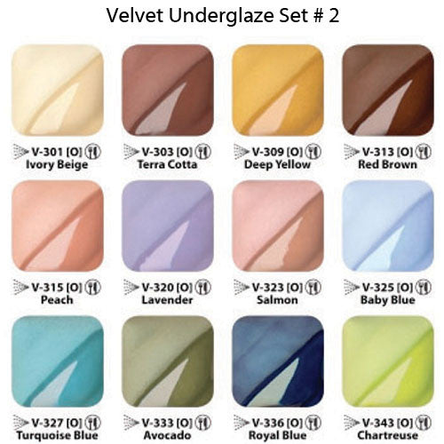 Velvet Underglaze Set No.2