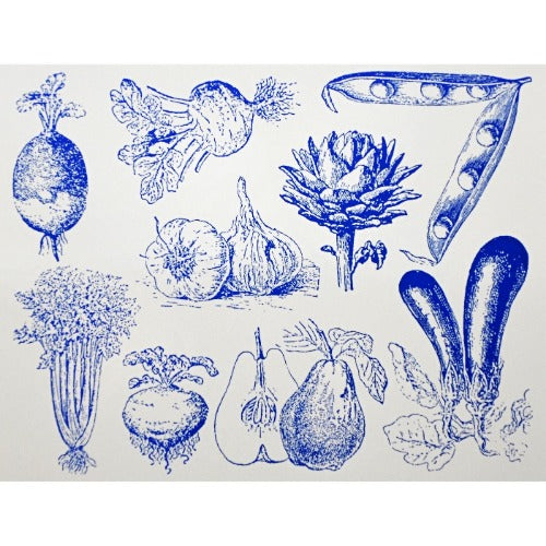 Decal Vegetables Blue