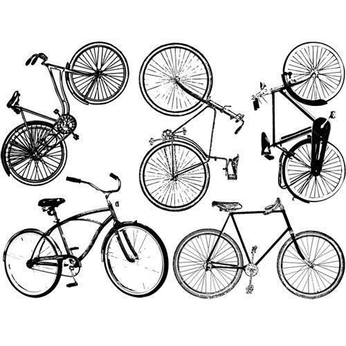 Decal Large Bikes Black High Temp