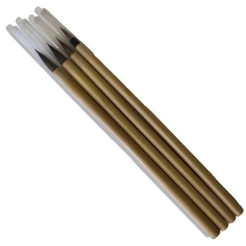 4-Piece Bamboo Brush Set
