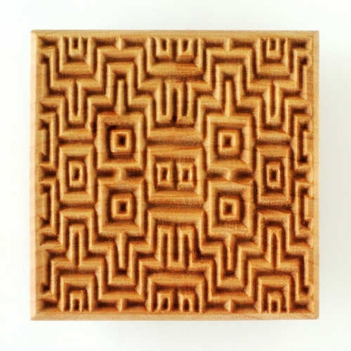 SSL-020 Large Square Stamp - Textile 1