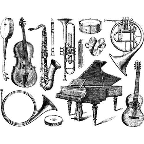 Decal Musical Instruments Black