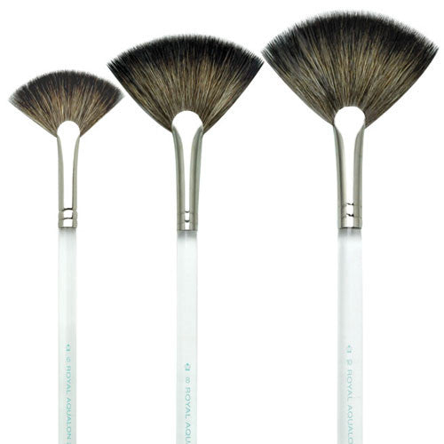 Small #6 Aqualon Natural Fan Brush