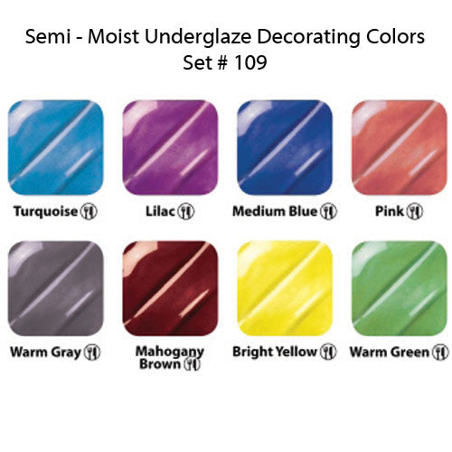 Semi-Moist Underglaze Set 109