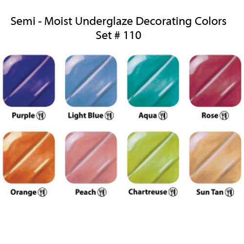 Semi-Moist Underglaze Set 110