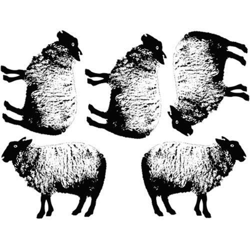 Decal Sheep Black