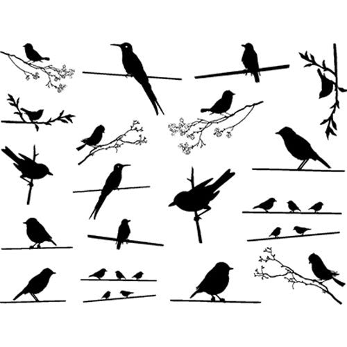 Decal Birds on the Wire