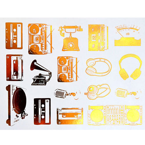 Decal Boomboxes Gold