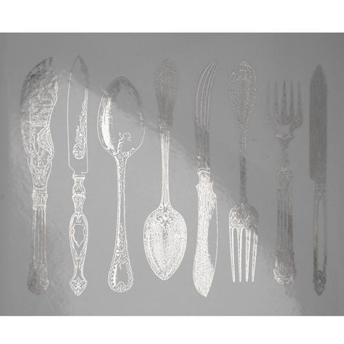 Decal Silverware Silver
