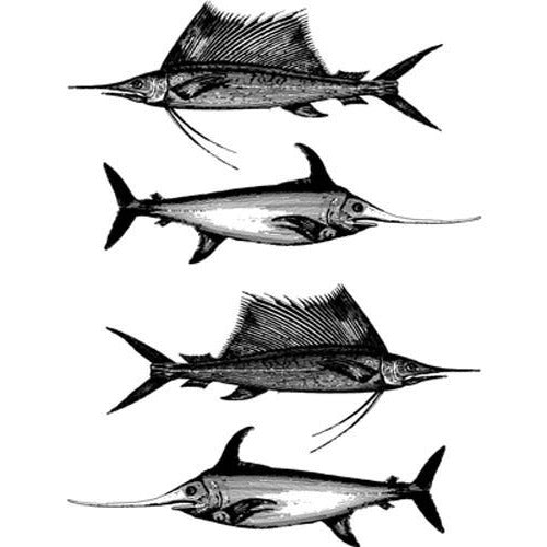 Decal Sailfish Black