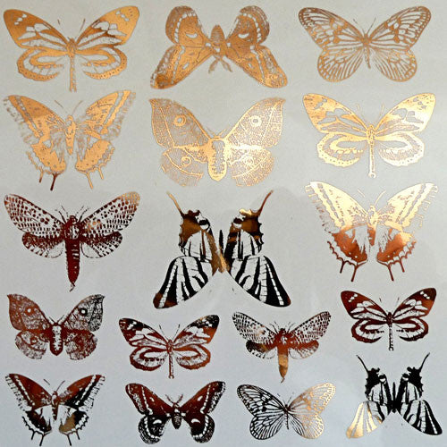 Decal Butterflies Gold