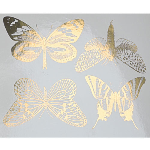 Decal Large Butterflies Gold