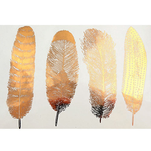 Decal Feathers Gold