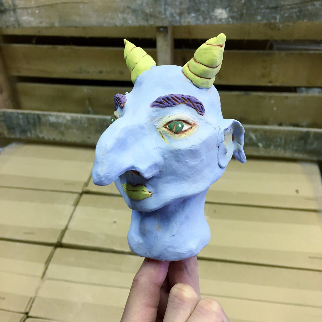 Clay Gargoyle Head (DOWNLOAD PDF TO PURCHASE)