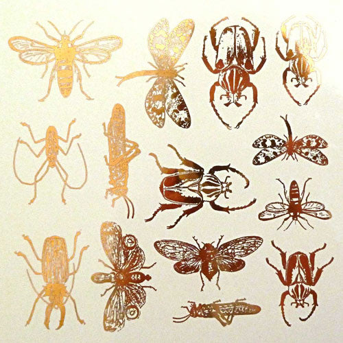 Decal Insects Gold