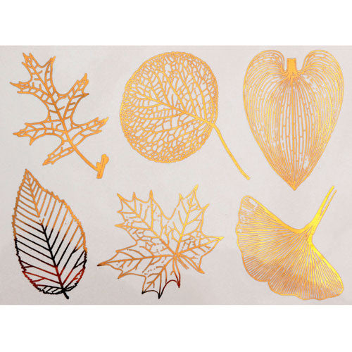 Decal Large Leaves Gold