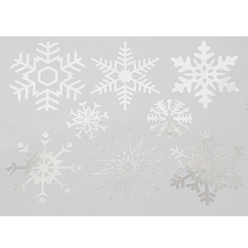 Decal Large Snowflakes Silver