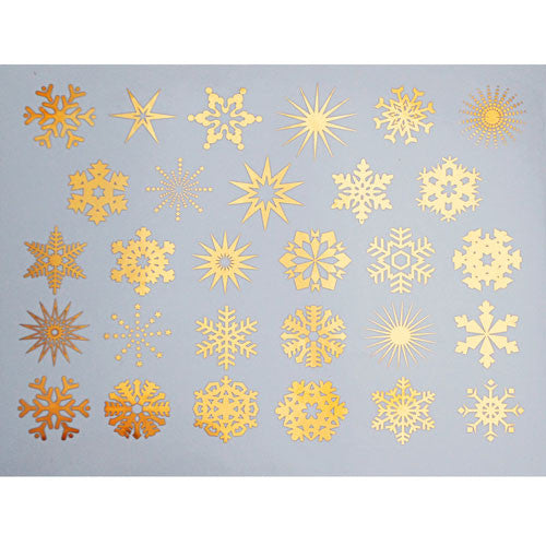Decal Snowflakes Gold