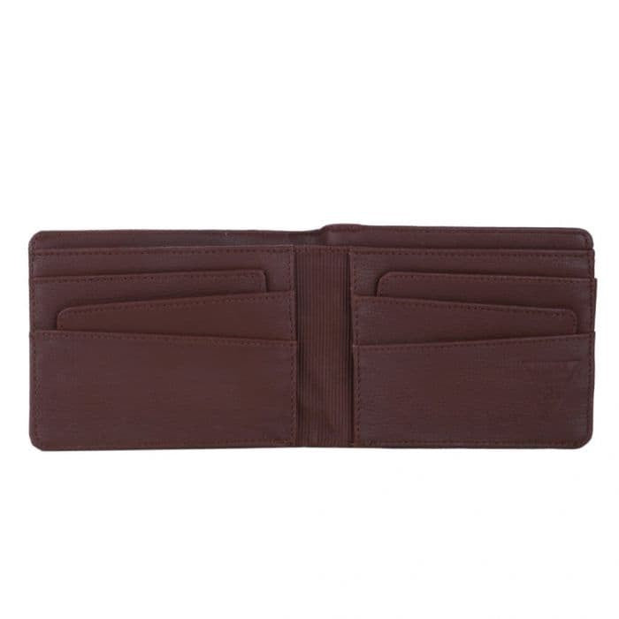 EIGER STRIP CENTER WALLET - BROWN
