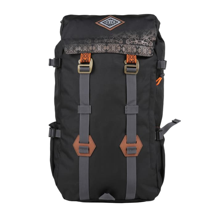 "EIGER RANSEL LAPTOP 14"" BACKPACK PILLARS BLACK BORNEO - BROWN - Otdor.com"