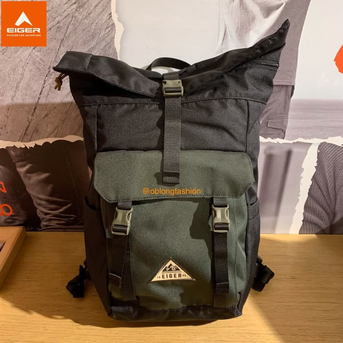 EIGER PASSAGE ROLL TOP 18L - BLACK - Otdor.com