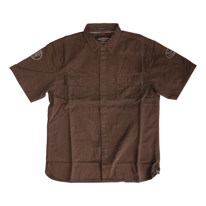 EIGER MACHINE S/S SHIRT - BROWN - Otdor.com