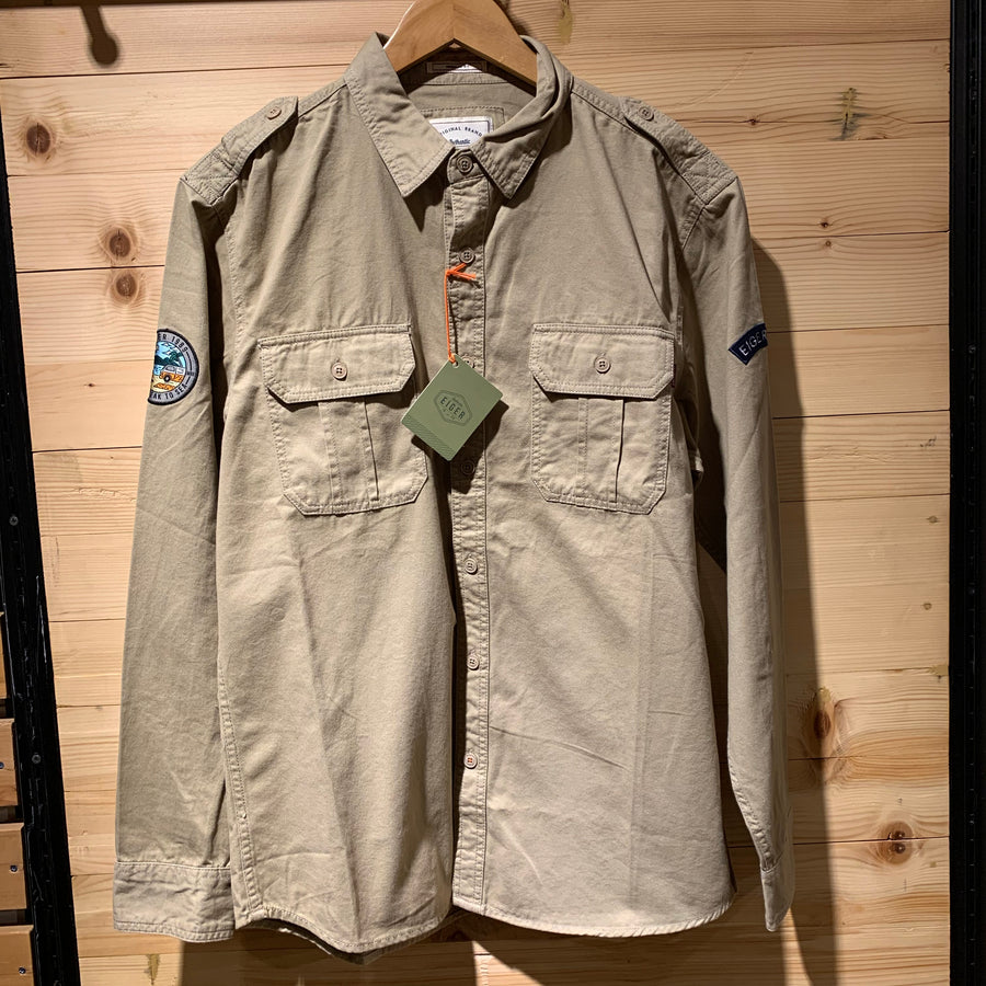 EIGER OREGON LONG SLEEVE SHIRT 89 - CREAM - Otdor.com