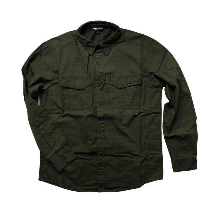 EIGER EVOLUTE 2.0 LONG SLEEVE SHIRT - OLIVE - Otdor.com
