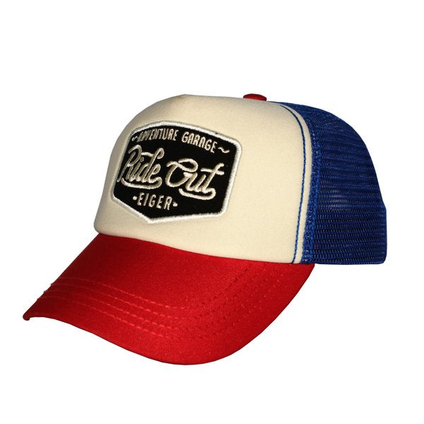 EIGER RIDING SCAR RIDE TRUCKER CAPS - RED
