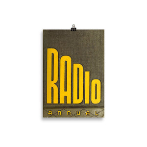 The Radio Nerd | Radio Annual Poster - The Radio Nerd