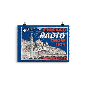 The Radio Nerd | Chicago Radio Poster - The Radio Nerd