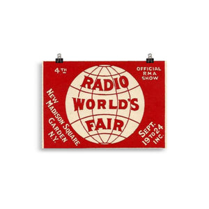 The Radio Nerd | World Fair Poster - The Radio Nerd