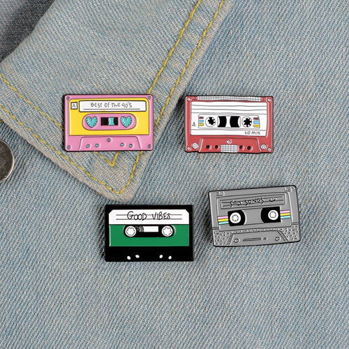 The Radio Nerd | Retro Cassette Pin Set - The Radio Nerd