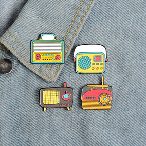 The Radio Nerd | Vintage Radio Pin Collection - The Radio Nerd