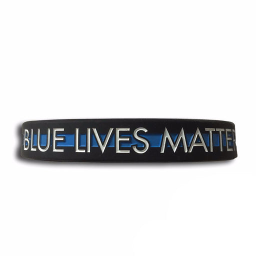 Blue Lives Matter Armband Polizei Thin Blue Line
