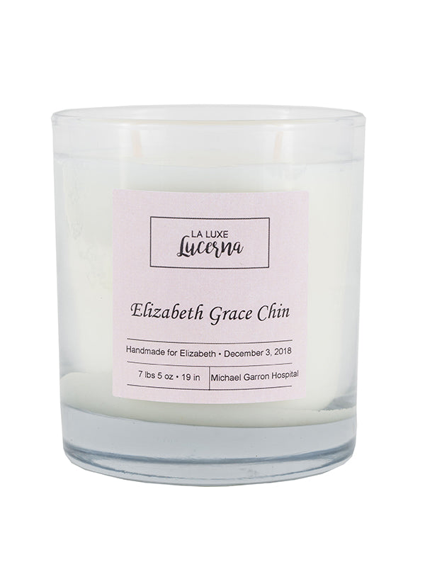Birth Announcement Candle