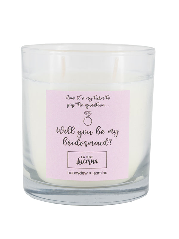 Pop the Question: Bridesmaid Candle