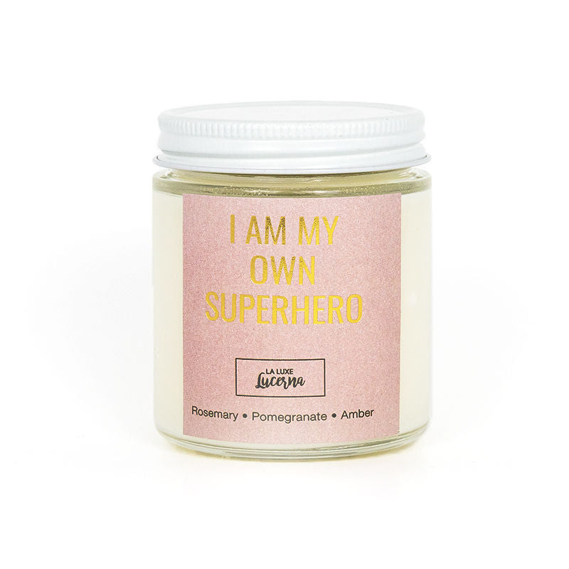 I Am My Own Superhero Mini Candle