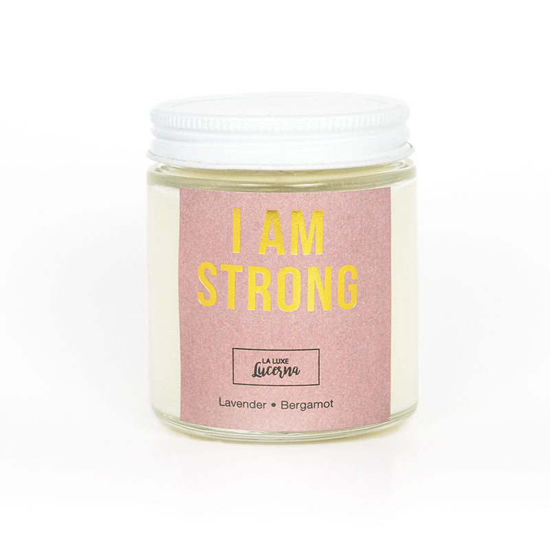 I Am Strong Mini Candle