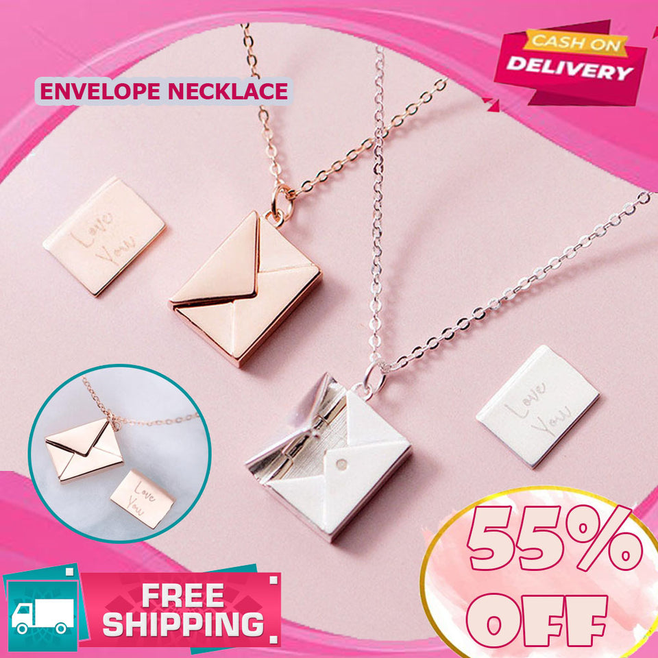 BUY 1 TAKE 1 ENVELOPE NECKLACE with I LOVE YOU Message | FREE SHIPPING & CASH ON DELIVERY