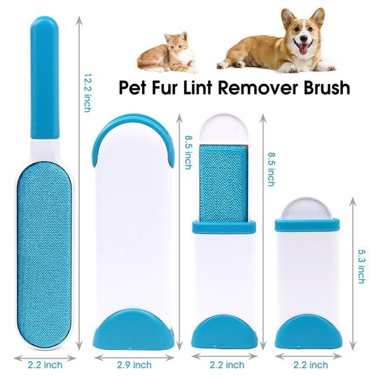 Self Cleaning Pet Hair Remover Brush + FREE Travel Mini Brush Today Only