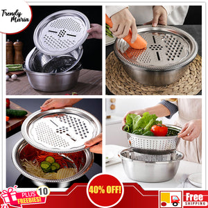 3 PCS MULTI-FUNCTIONAL STEEL BASIN | FREE SHIPPING & CASH ON DELIVERY + 10 FREEBIES!