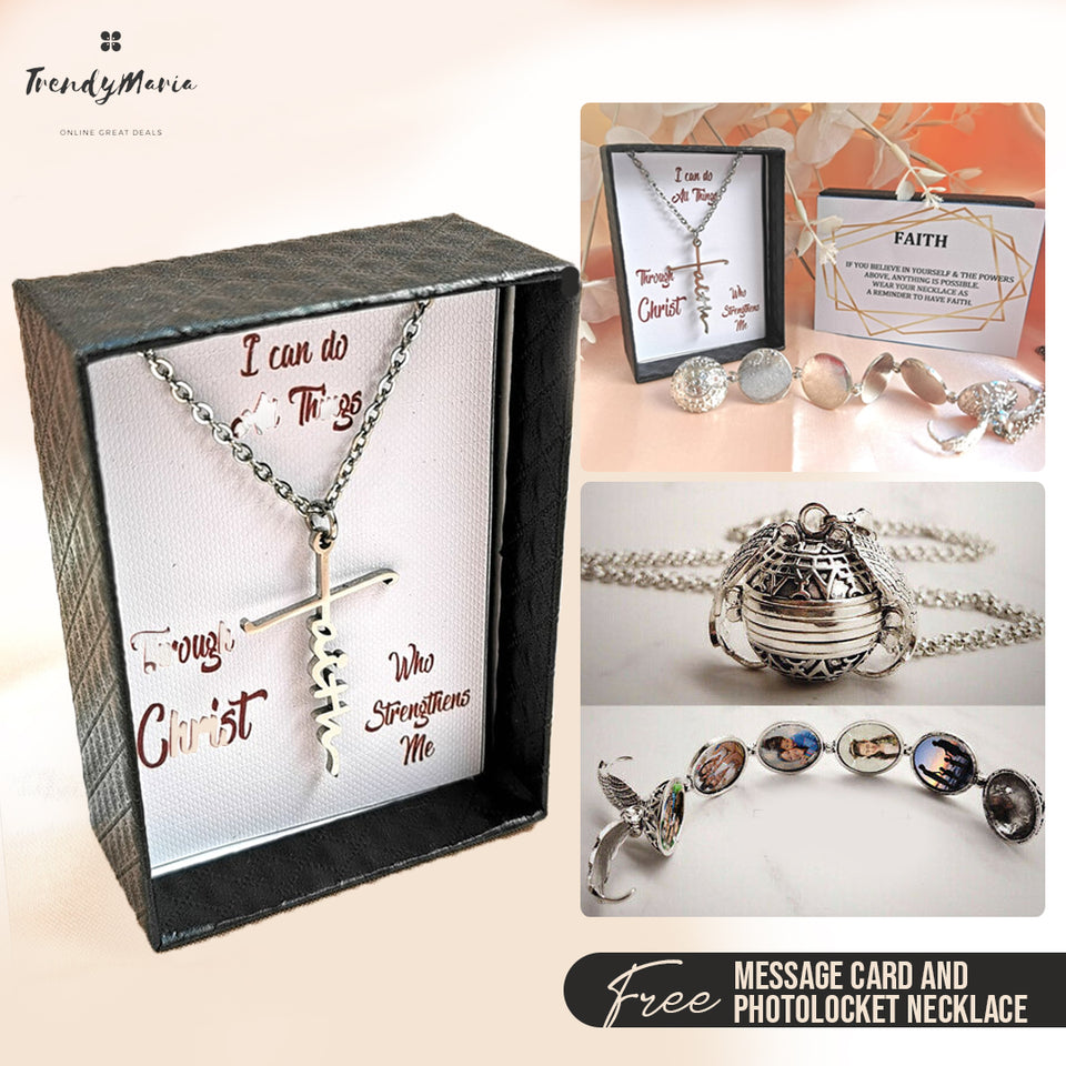 FAITH NECKLACE + FREE LOCKET NECKLACE |FREE DELIVERY & COD NATIONWIDE!