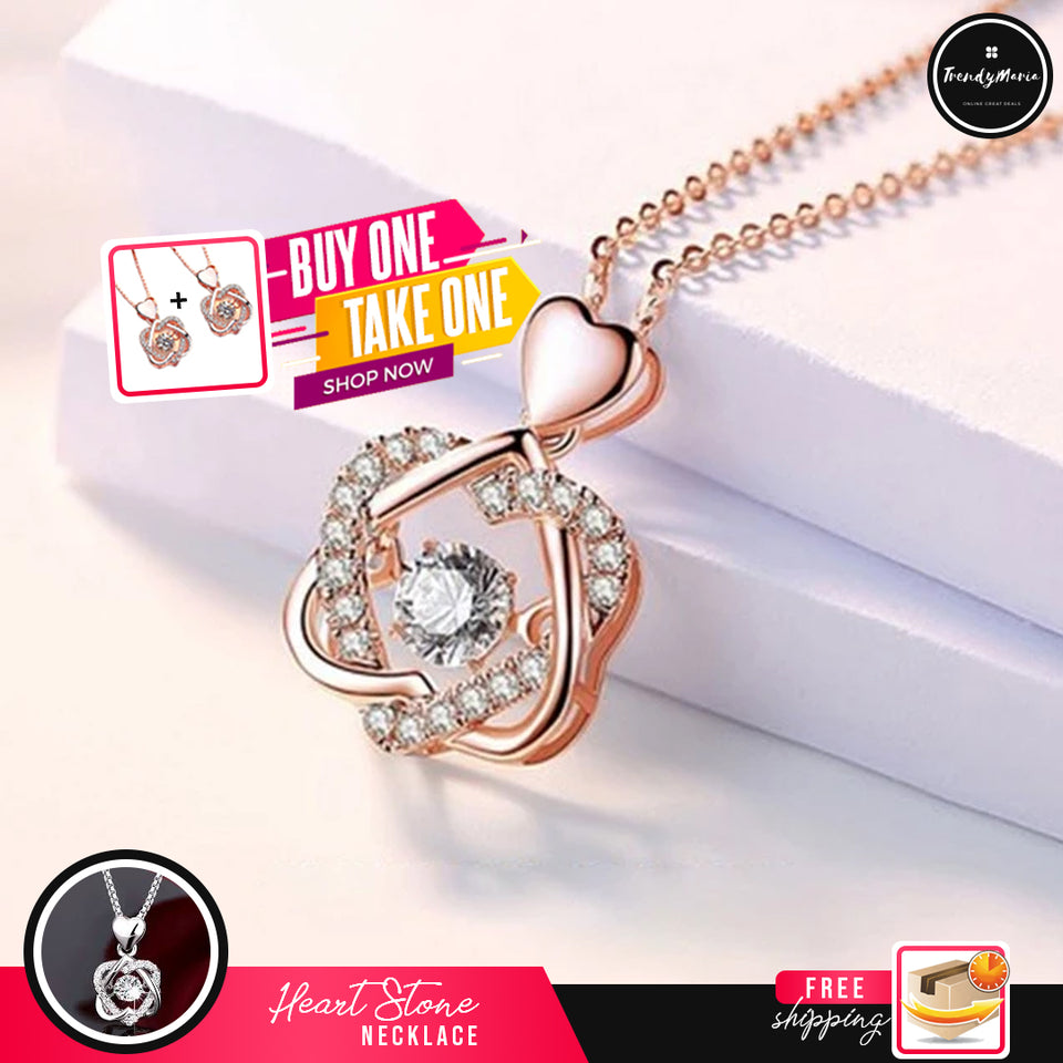 BUY 1 TAKE 1 - HEART STONE NECKLACE - FREE SHIPPING AND CASH ON DELIVERY!!