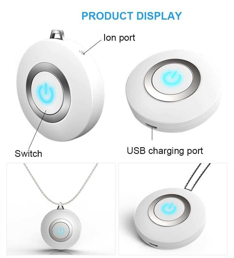 PORTABLE NECKLACE AIR PURIFIER - AGAINST VIRUS AND BACTERIA | FREE SHIPPING AND CASH ON DELIVERY