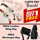 BUY 1 TAKE 1 100  LANGUAGES  I LOVE YOU BRACELET - FREE Leather Bag for Her & Leather Bag for Him | FREE SHIPPING AND CASH ON DELIVERY