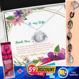 SPECIAL MOTHER'S DAY LOCKET NECKLACE+FLOWERS+MESSAGE CARD+FREE DELIVERY 59% OFF!+CASH ON DELIVERY