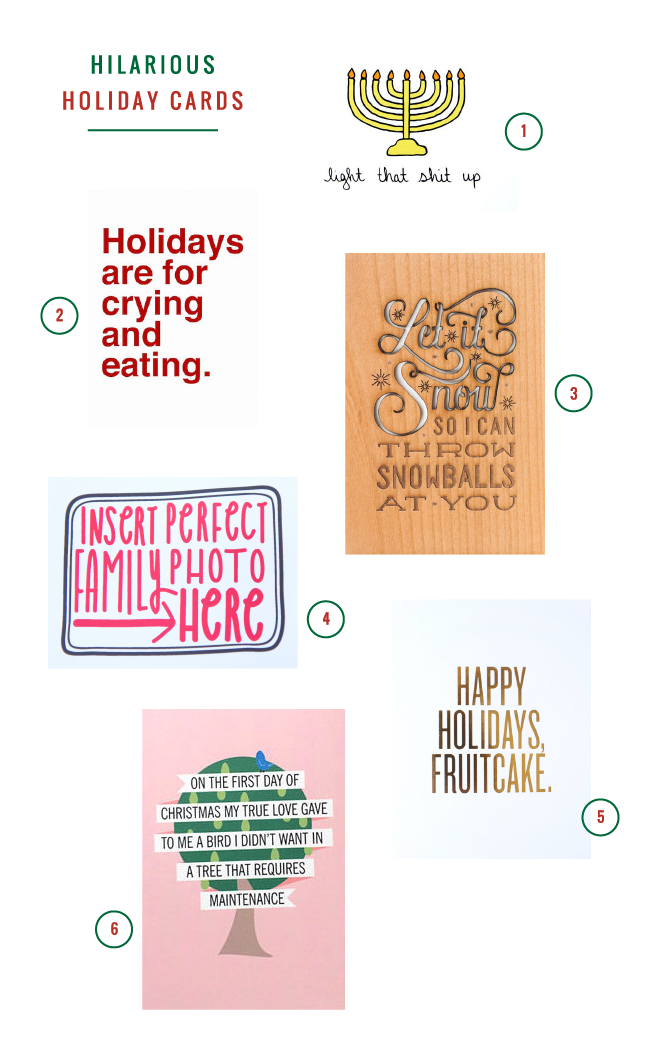 6 hilarious holiday cards!
