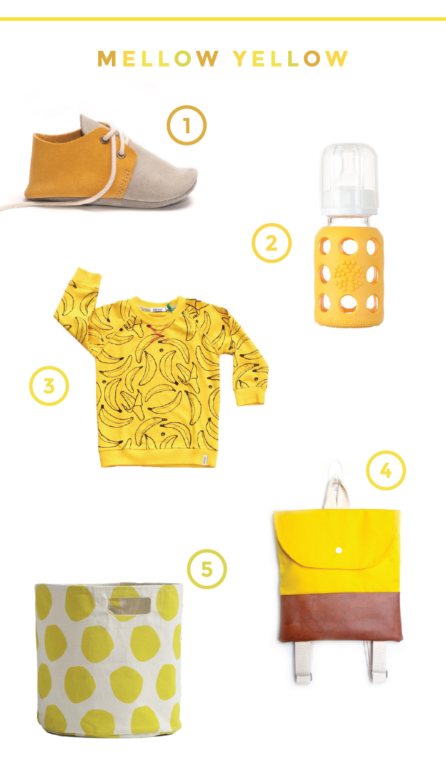 yellow kids clothing