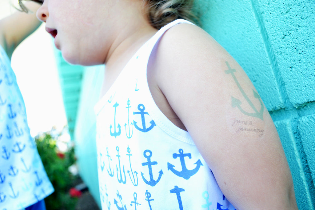 DIY Anchor Tattoos | June & January